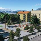 """Pacific Paradise"" Hotel park"