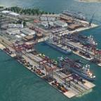 Neuer Hafen Komplettansicht süd