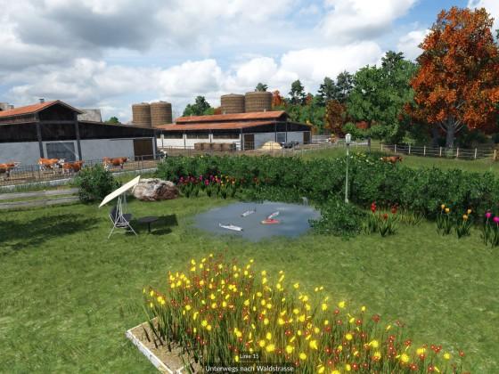 Idyllischer Gartenteich
