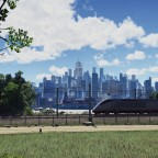 Acela Express leaving the city