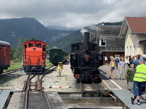Bahnhof Bezau mit Segmentdrehscheibe