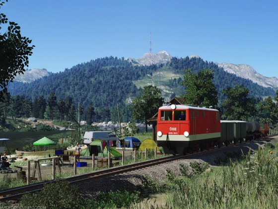 [TpF1] ÖBB 2095 (750mm) near the small tourists camp