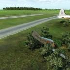 Das abgestürtze Flugzeug