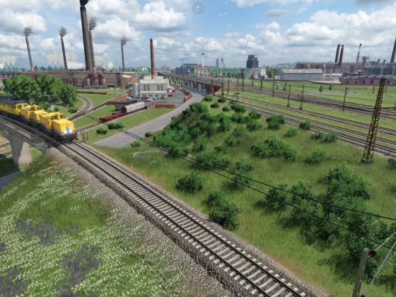 Links das Stahlwerk Bleckenrode und rechts der Chemiepark Bleckenrode Ost