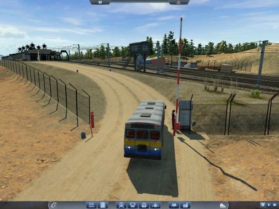 Einfahrt zum Zugdepot Huntington