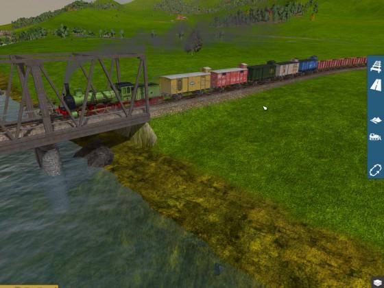 Güterzug auf weiter Fahrt