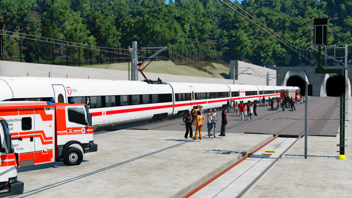 Rettungsübung an der Neubaustrecke