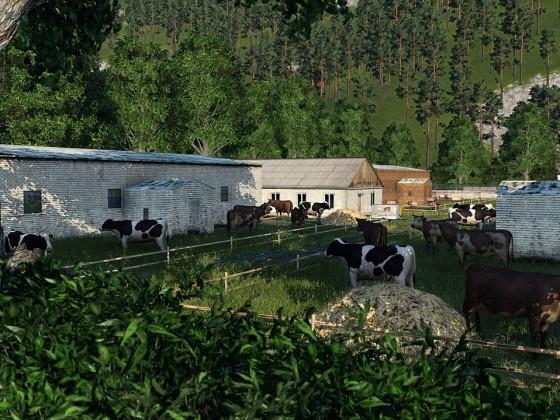 Bauer Ewalds Ställe und einige seiner Tiere