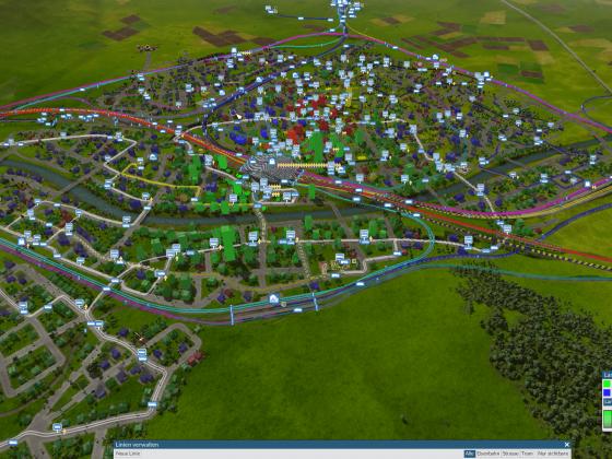 Flächenstadt mit 2900 Einwohnern