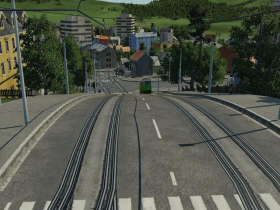 Solo-T1 auf steiler Strecke