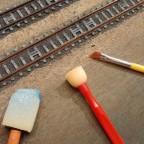 Einschotterung der Gleise