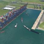 Fortschritt des Binnenhafens