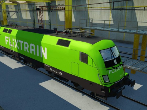 Flixtrain Lok Taurus (Siemens ES64 U2)