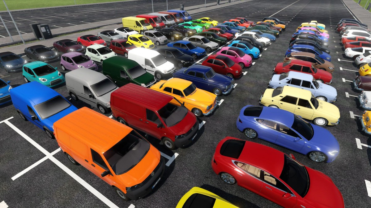 Wieder Farbe bei den konvertierten Fahrzeugen.