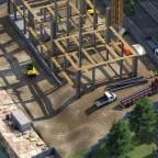 Erster Schönbauversuch einer Baustelle in Freifeld