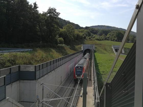 Twindexx in Tunnel der neuen Spessartrampe