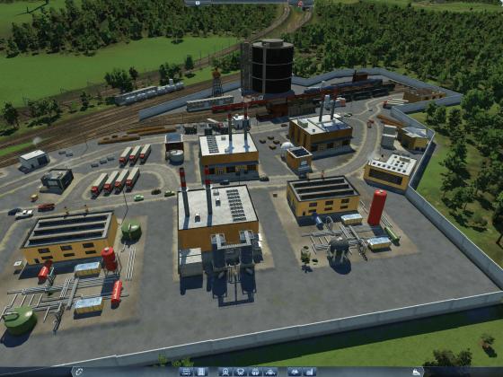 Fiktiver Raffinerie-Umschlagplatz