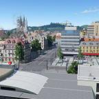 [TpF 1] Bahnhofsvorplatz Sommerthur Hauptbahnhof