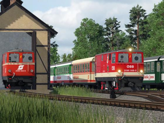 Betrieb bei der Ybbstalbahn - 2095.008-5 in Ybbsitz