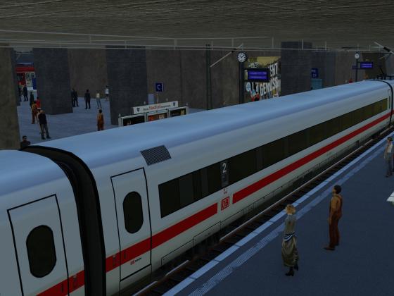 Durchblick von Gleis 12 auf Gleis 1