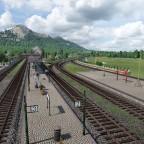 Weiche im Bahnhof