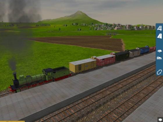 Güterzug am vollladen