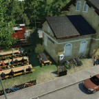 Gastronomie im ehemaligen Bahnhof
