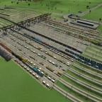 Mein kleiner Umschlagbahnhof (insgesammt an die 40 Gleise)