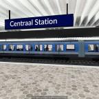 Metro an der Station Amsterdam Hauptbahnhof