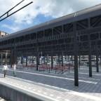 Ein Versuch den Bahnhof Olten nachzubauen mit den Assets die ich installiert hatte.