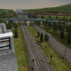 Sicht auf den Bahnhof Sachsenhagen