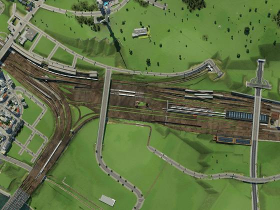 Bahnhofseinfahrt NACH dem Umbau