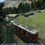 Bergbahn unterwegs