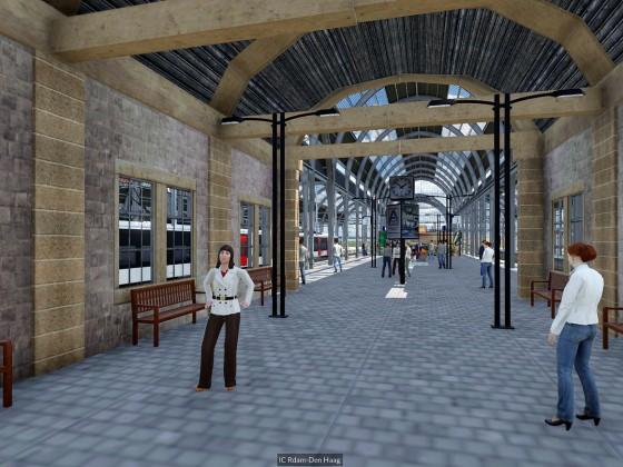 Auf dem Bahnsteig im Bahnhof Den Haag HS