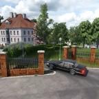 Einfahrt Ringier Villa von der Rebbergstrasse her