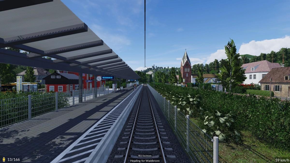 Dorf Bahnhof auf einem Berg