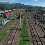 Shunting yard in late USSR