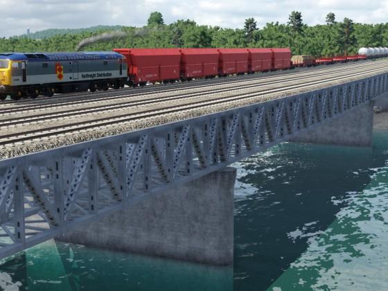 Class 47 on the bridge