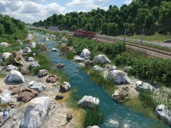 kleines Flussdelta