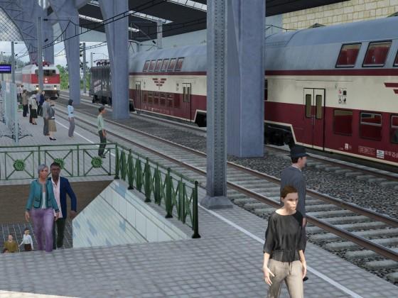 Einfahrt in den Bahnhof