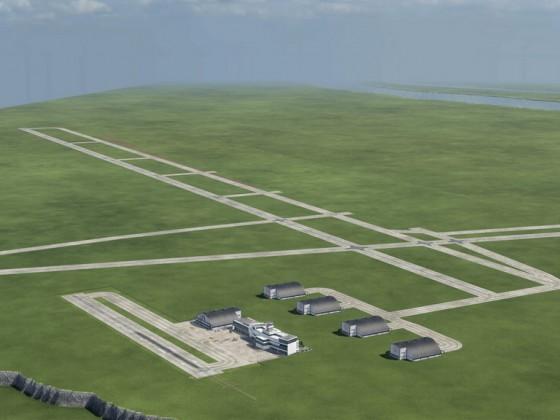 Flughäfen und Massstab