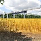 Prestigeprojekt Schwebebahn (Monorail) in Freifeld zwischen Flughafen und Messe 5/8