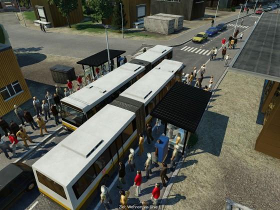 Stadtverkehr in Transport Fever