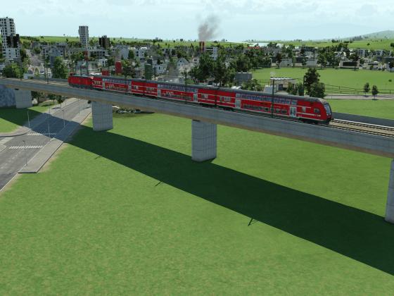 S-Bahn Dresden auf Brücke
