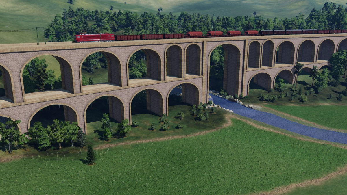 Viadukt über Fluss 1
