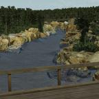 Foto der Brücke der Nebenstrecke vom landwirtschaftlichen Weg