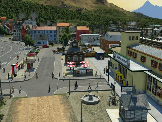 Kleinstadtidylle am Bahnhof!