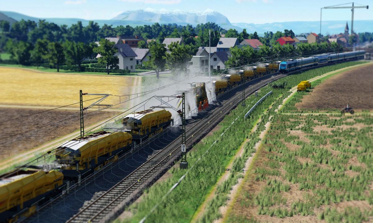 Gleisschottererneuerung bei Rennertshofen