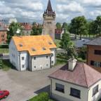 Parkplatz des Blumenheims und Sicht auf die Obere Promenade