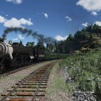 4-6-2 Southern Pacific somewhere in mountains